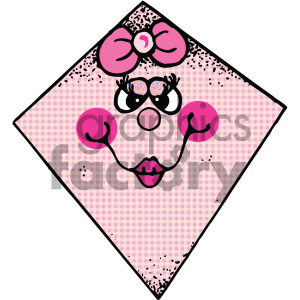 pink kite vector image clipart. Commercial use image # 405451