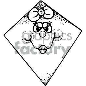 kites 003 black white clipart. Commercial use image # 405452