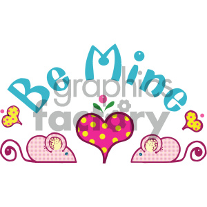 be mine word art clipart. Royalty-free image # 405480