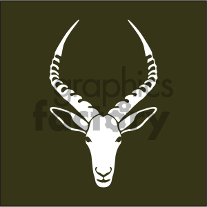 vector gazelle head icon clipart. Royalty-free icon # 405539