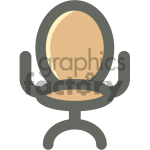office chair with round back furniture icon clipart. Royalty-free image # 405690