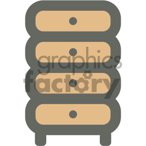 clothing dresser furniture icon clipart. Royalty-free image # 405692