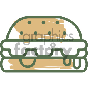 cheeseburger food vector flat icon design clipart. Commercial use image # 405716