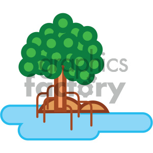 tree island nature icon clipart. Royalty-free image # 405757
