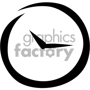 clock timer vector flat icon clipart. Royalty-free image # 405772