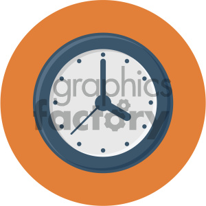 clock circle background vector flat icon