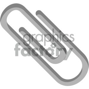 paper clip vector flat icon clipart. Royalty-free image # 405787