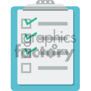 clipboard vector flat icon clipart. Royalty-free icon # 405795
