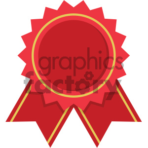 award ribbon vector flat icon clipart. Royalty-free image # 405845