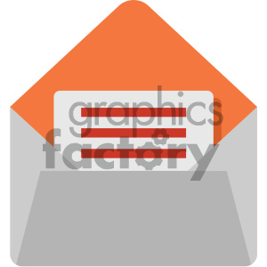 mail vector flat icon clipart. Royalty-free image # 405865