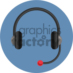 headphones circle background vector flat icon clipart. Royalty-free image # 405870