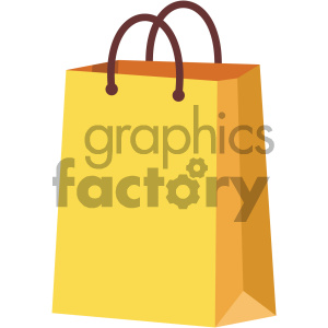 shopping bag vector flat icon clipart. Royalty-free image # 405885