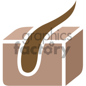 hair follicle vector icon art clipart. Commercial use image # 405912
