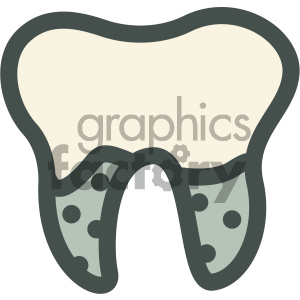 tooth dental vector flat icon designs clipart. Royalty-free image # 405943