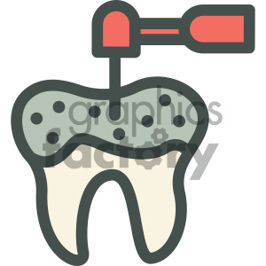 drilling cavity dental vector flat icon designs clipart. Royalty-free image # 405958