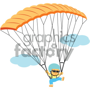 boy skydiving vector illustration clipart. Royalty-free image # 406004