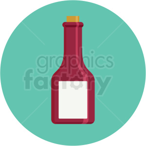 red corked bottle icon with circle background clipart. Royalty-free image # 406023