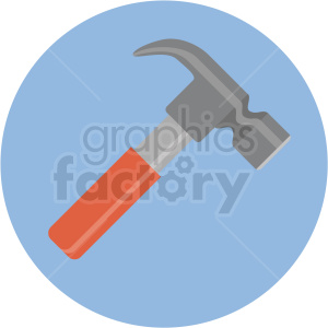 hammer icon with blue circle background clipart. Commercial use image # 406044