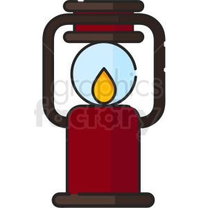 oil lantern vector icon art clipart. Royalty-free image # 406113