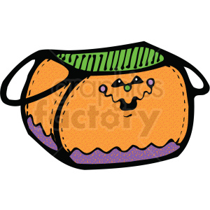 halloween candy bag clip art clipart. Royalty-free image # 406133