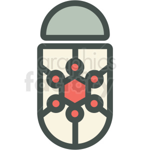 nanorobot technology icon clipart. Royalty-free image # 406173