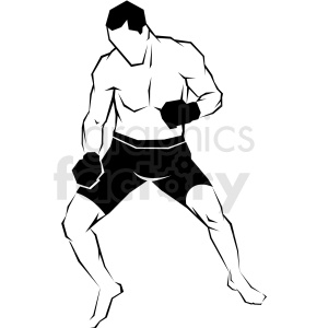 mma fighter vector art clipart. Commercial use image # 406201
