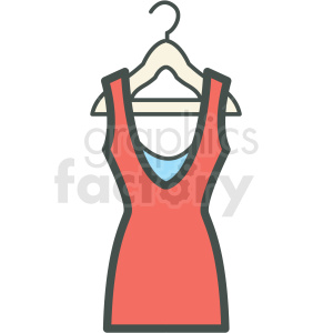 icons dress hanger clothing wear+red+day red