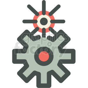 cog gears manufacturing icon clipart. Commercial use image # 406264