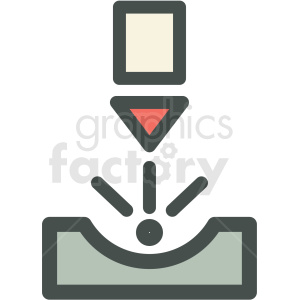 laser beam manufacturing icon clipart. Commercial use image # 406266
