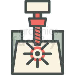 engraving machine manufacturing icon clipart. Commercial use image # 406267