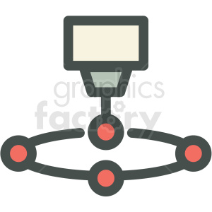 machine automation manufacturing icon clipart. Commercial use image # 406273