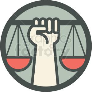 law civil justice scale hand