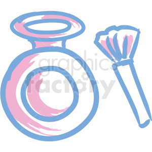 cosmetic makeup icons brush bottle