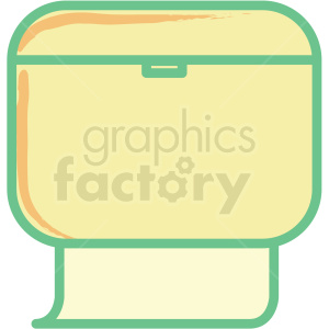 paper towel dispenser flat vector icon