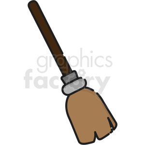 witch broom vector icon art clipart. Commercial use image # 406363