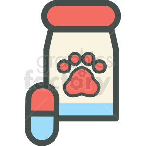 dog vitamins vector icon clipart. Commercial use image # 406411