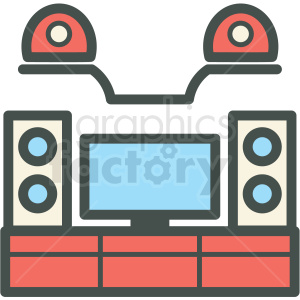 entertainment center vector icon clipart. Royalty-free icon # 406413