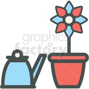 flower pot vector icon clipart. Royalty-free image # 406415