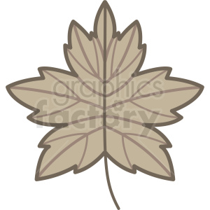 brown leaf vector icon clipart. Commercial use image # 406437