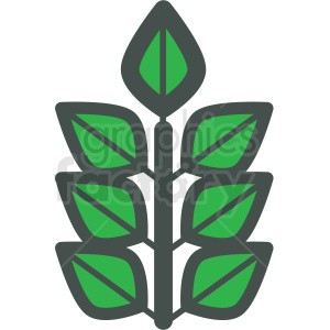 branch of leafs vector icon clipart. Commercial use image # 406445