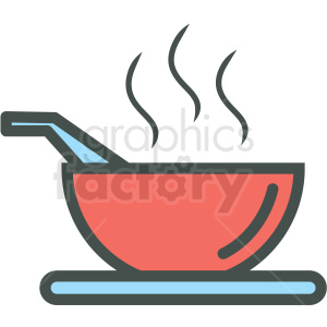 bowl of soup vector icon clipart. Royalty-free image # 406447