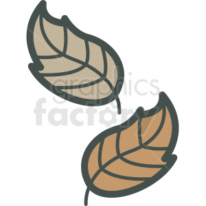 autumn leafs vector icon clipart. Royalty-free image # 406453