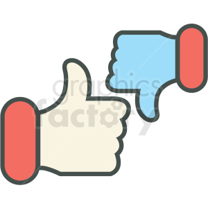 thumbs up and down vector icon clipart. Commercial use image # 406463
