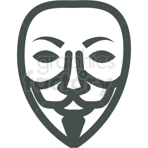 white guy fawkes anonymous mask vector icon image clipart. Commercial use icon # 406499