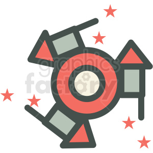 spinning firework for guy fawkes day vector icon image clipart. Royalty-free image # 406509