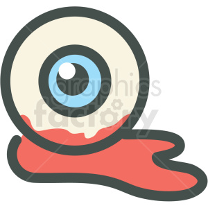 halloween bloody eye vector icon image