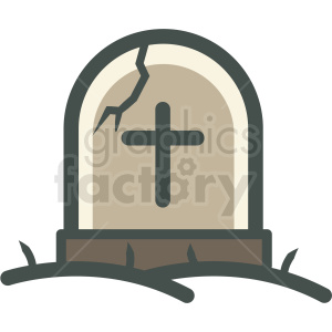 tombstone halloween vector icon image clipart. Commercial use image # 406543