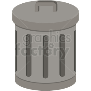 trash can vector flat icon clipart with no background clipart. Royalty-free image # 406683
