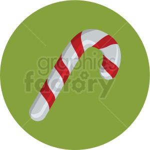 candy cane vector flat icon clipart with circle background clipart. Royalty-free image # 406693