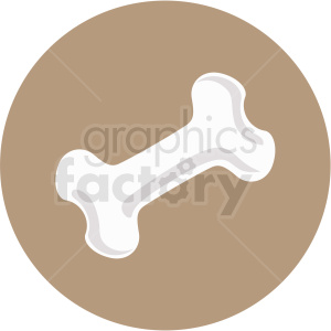 bone icon clipart with circle background